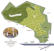 Click Here to Enlarge a Map of the Monongahela Cemetery